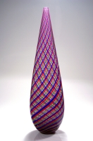 Multi-Colored-Twisted-Cane-Vase