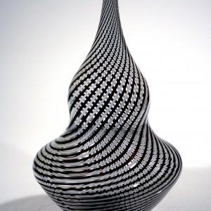 Black-and-White-Twisted-Cane-Vase