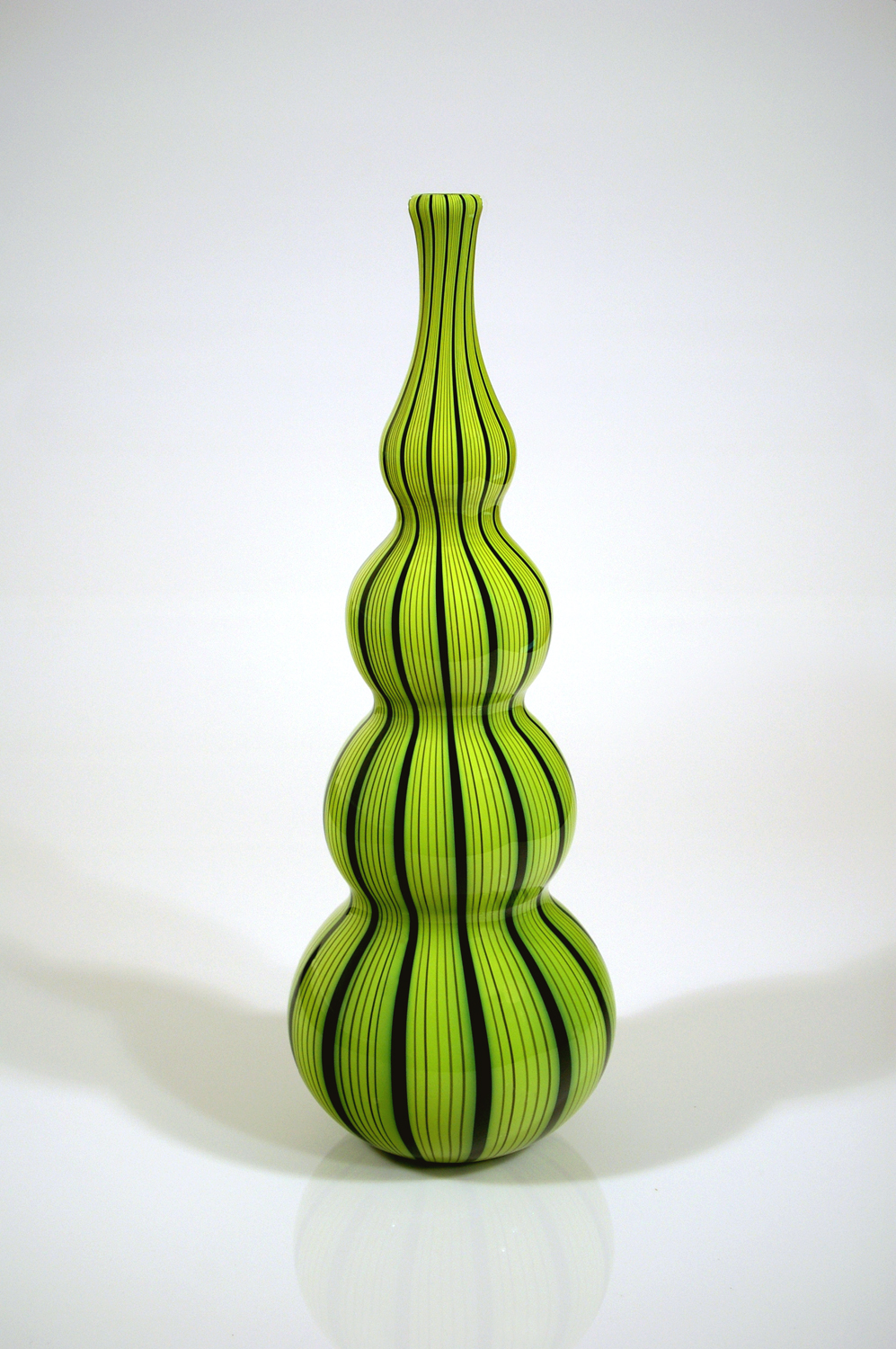 Chartreuse-Ribbon-Cane-with-Black-lines