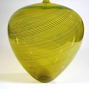 Gold-Vase-with-Black-Twisted-Cane