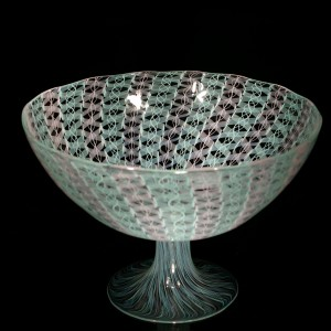 Pink-Mint-Zanfirico-Cane-Footed-Bowl