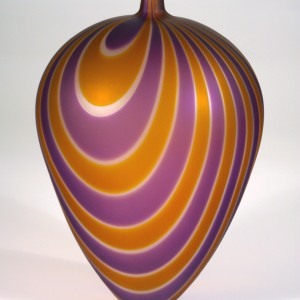 Purple-and-Gold-Frosted-Vase