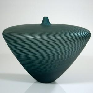 Turquoise-Vase-with-Black-Twisted-Cane